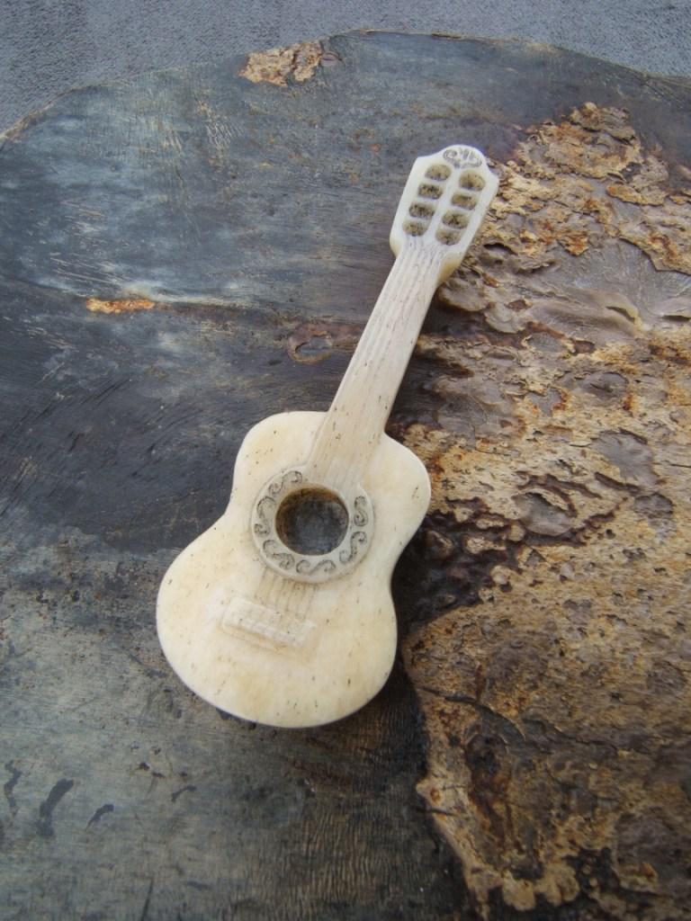 Pendentif guitare argent homme